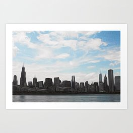 City Swept Art Print