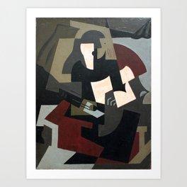 Woman with guitar Art Print