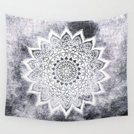 BOHO WHITE NIGHTS MANDALA Wall Tapestry