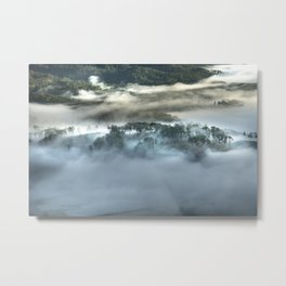 Mist on the Mountain Metal Print