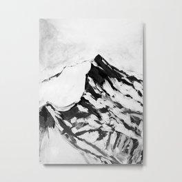 MOUNTAIN TOPS, peaks, snow Metal Print