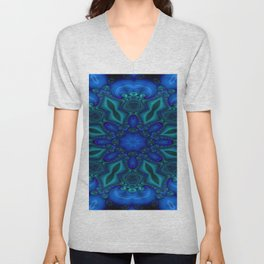 Battling At The Chasm Mandala 8 Unisex V-Neck