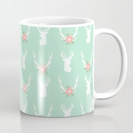 Deer antlers deer head silhouette cute modern minimal nature inspired nursery decor Coffee Mug