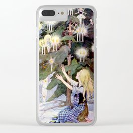 """""""The Little Match Girl"""" Vintage Art by Anne Anderson Clear iPhone Case"""