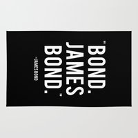 bond Area & Throw Rugs featuring Bond James Bond Quote by Chris Bergeron