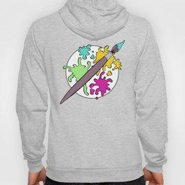 Colorful Paint Splatter Pattern Hoody