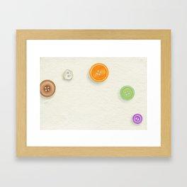 buttons Framed Art Print