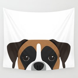 Boxer Portrait Wall Tapestry