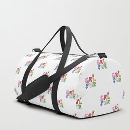 GRL PWR pattern Duffle Bag