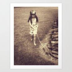 Alice and Dinah Art Print