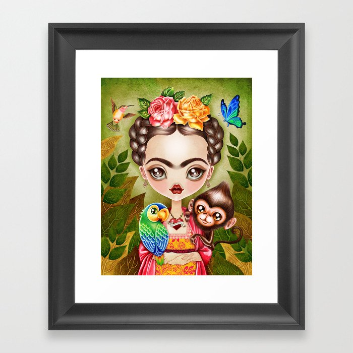 Frida Querida Framed Art Print By Sandygrafik Society6