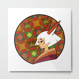 White haired Kitsune Metal Print