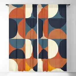 mid century abstract shapes fall winter 1 Blackout Curtain