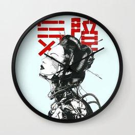 Vaporwave Japanese Cyberpunk Urban Wall Clock