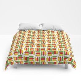 Condiments - BBQ Doodle Pattern Comforters