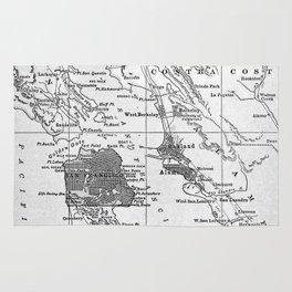 Vintage Map of San Francisco California (1905) Rug