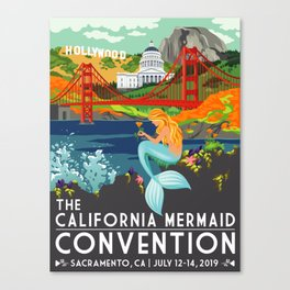 Poster Art ·•· California Mermaid Convention Canvas Print