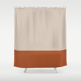 Minimalist Solid Color Block 1 in Putty and Clay Shower Curtain