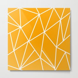 ABSTRACT DESIGN (WHITE-ORANGE) Metal Print