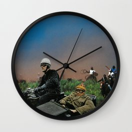 Sidecars & Cowboys Wall Clock
