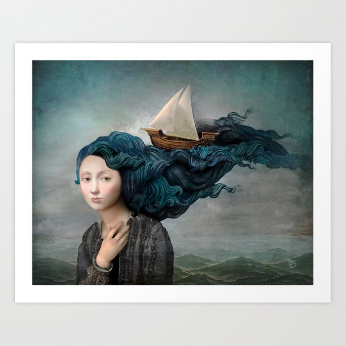 Message from the Sea art print by Christian Schloe