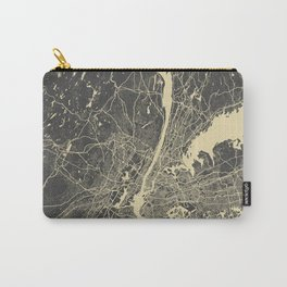 New York #2 map yellow Carry-All Pouch
