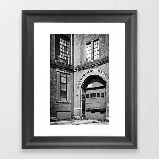 Mono Brick VI Framed Art Print