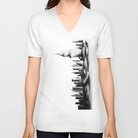 istanbul V-neck T-shirts featuring İstanbul. by cidem