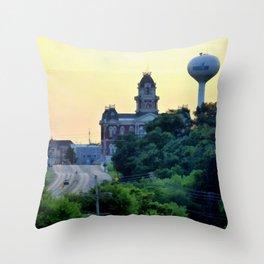 Shelbyville, Illinois Overlook Throw Pillow
