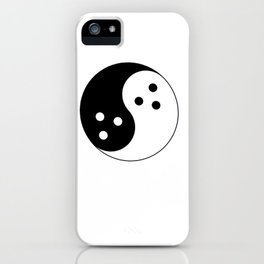 Ghost Yin Yang iPhone Case