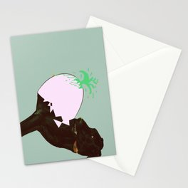 To spring a leak, is as dog is to egg. Stationery Cards