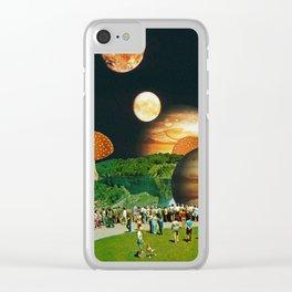 Fungi Waterfalls Clear iPhone Case