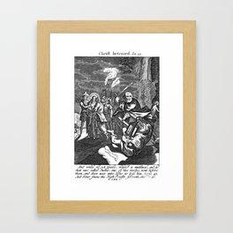 Jesus Betrayed Framed Art Print