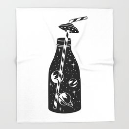 cosmic soda Throw Blanket