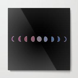 Moon Phase Color Spectrum Metal Print