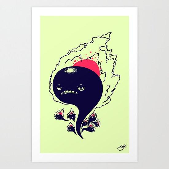 Flaming Squiggles Art Print