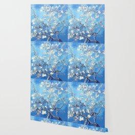 Vincent Van Gogh Almond Blossoms. Sky Blue Wallpaper