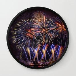 Blue Stars. Boston Pops Fireworks. Wall Clock