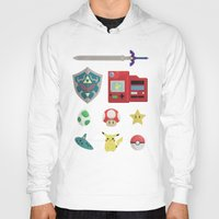 video games Hoodies featuring video games by Black