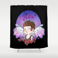 glee Shower Curtains featuring Cupid by Sunshunes