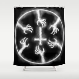 Smoke Rings Shower Curtain