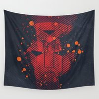 cartoons Wall Tapestries featuring Grunge Transformers: Autobots by Sitchko Igor
