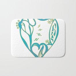 Birth Hearts No.8 - Green Bath Mat