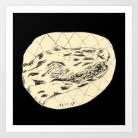 crocodile Art Prints featuring Crocodile by Mr. JJ