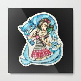 Me - Cheshire cat and Vaporeon Metal Print