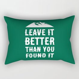 Leave It Better Than You Found It - Mountain Edition Rectangular Pillow