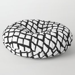 Rhombus White And Black Floor Pillow