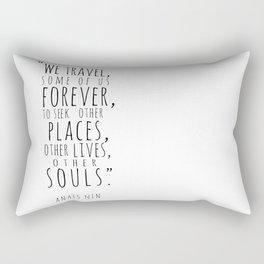 We Travel Forever Rectangular Pillow