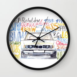 BMW e36 Wall Clock