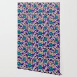 Elizabeth Floral Mauve Wallpaper